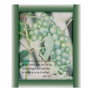 I am the Vine Scripture art Poster