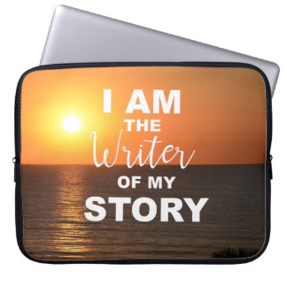 I am the writer of my story, laptop cover