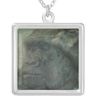 I Am Thinking About It Gorilla Necklace