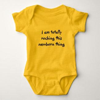 I am totally rocking this newborn thing baby bodysuit