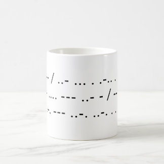 I am useless without my coffee (Morse) Coffee Mug