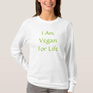I Am Vegan For Life. Green. Slogan. Custom T-Shirt
