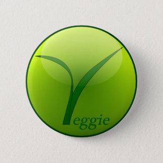 I am vegetarian 6 cm round badge