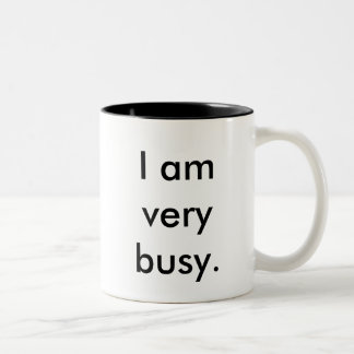 I am very busy two-toned mug