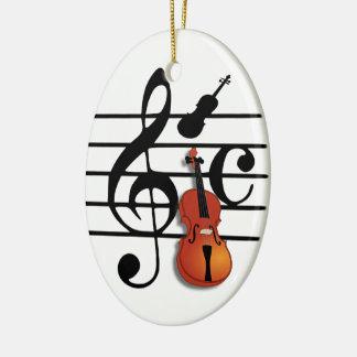 I Am Violin#2_ Ceramic Ornament