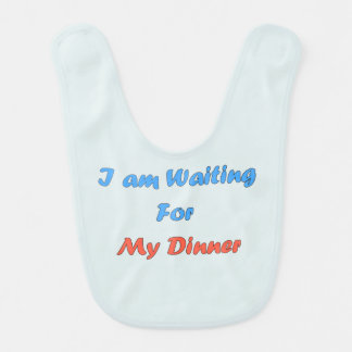 I Am Waiting For My Dinner Baby Bib