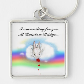 I AM WAITING... Silver-Colored SQUARE KEY RING