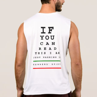 I Am Warming Up Eye Chart - Performance Singlet