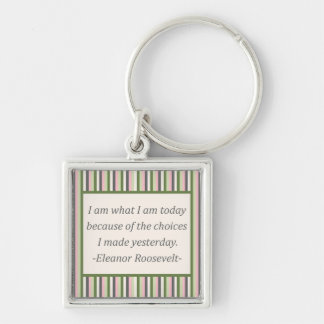 I am what I am today... Key Ring