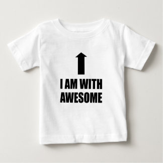 I Am With Awesome Baby T-Shirt