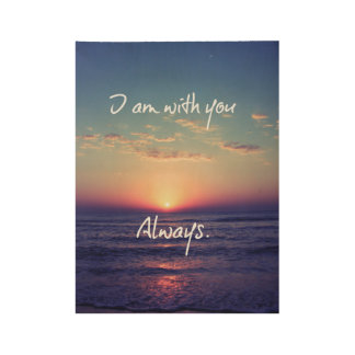 I am With You Always Bible Verse Wood Poster