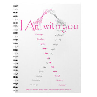 I am with you - breast cancer awareness shirt spiral notebooks