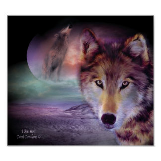 I Am Wolf Art Poster/Print Poster