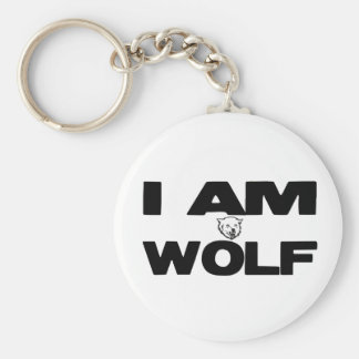 I Am Wolf Key Ring