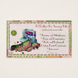 I Am Woman Hear Me Sew CUSTOM TAYLOR CRAFTER Business Card