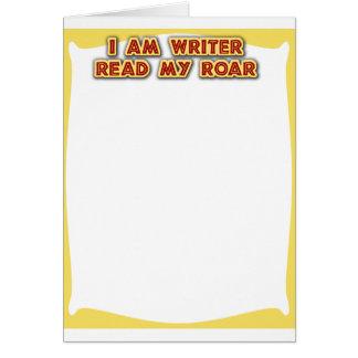 I am writer! card