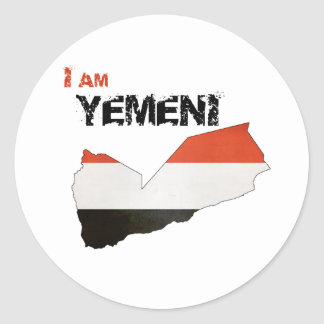 I am Yemeni Round Sticker