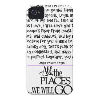 I am your dog FNL BACK purple copy iPhone 4 Case