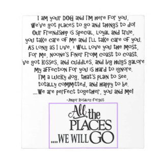 I am your dog FNL BACK purple copy Notepad