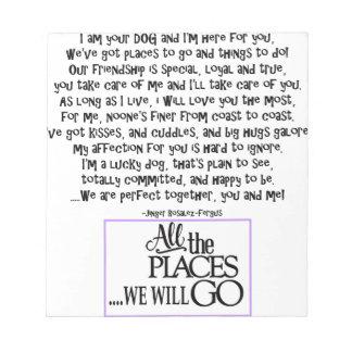 I am your dog FNL BACK purple copy Notepads