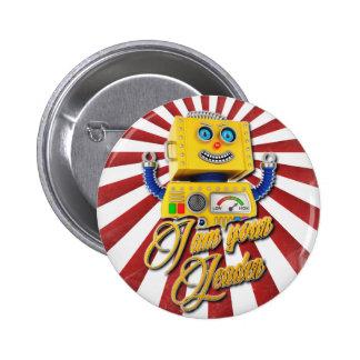 I am your Leader Vintage Toy Robot 6 Cm Round Badge