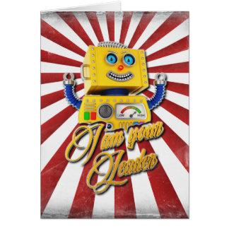 I am your Leader Vintage Toy Robot Card