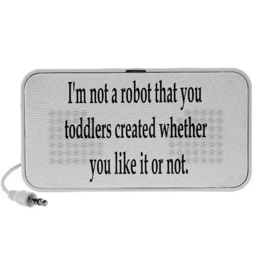 I Am Your Robot Travel Speaker
