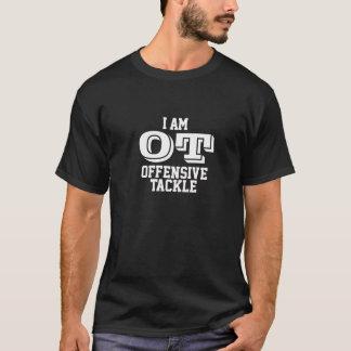 I amndt offensive tackle tee-shirt (white) T-Shirt