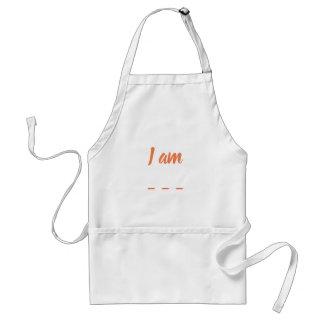 'I am'Number 02 (Orange) Standard Apron