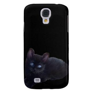 i Animals Black Cat Samsung Galaxy S4 Cover
