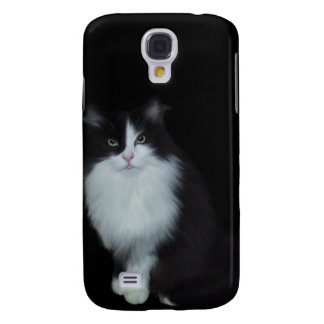 i Animals Black White Cat Galaxy S4 Cases