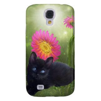i Animals Cat Flowers Galaxy S4 Cases