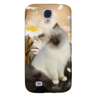 i Animals Cat Flowers Galaxy S4 Cover