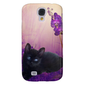 i Animals Cat Flowers Samsung Galaxy S4 Covers