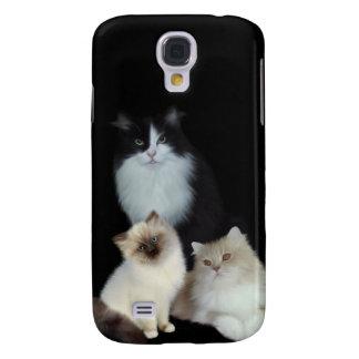 i Animals Three Cats Galaxy S4 Case