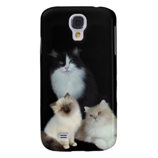 i Animals Three Cats Samsung Galaxy S4 Cover
