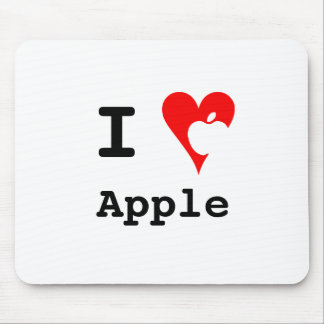 """I ♥ Apple"" Mousepad"