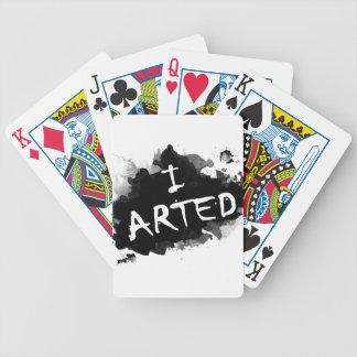 I arted poker deck
