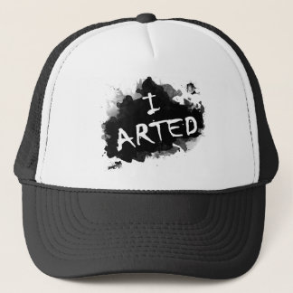 I arted trucker hat