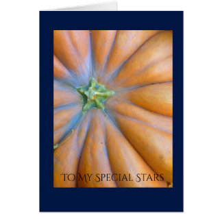 i Arts and Designs, Pumpkin Star Thanksgiving Card