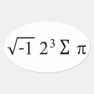 I Ate Some Pie Math Sticker