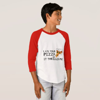 """""""I Ate Your Pizza"""" Kids American Sleeve Shirt"""