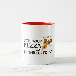 """I Ate Your Pizza"" Two-Tone Mug"
