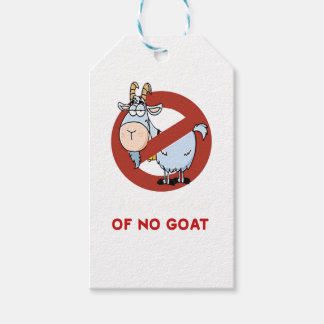 I aunt no goat funny gift tags