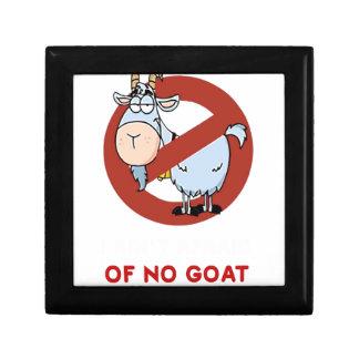 I aunt no goat funny small square gift box
