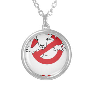 I aunt no goat silver plated necklace