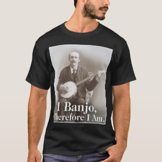 I Banjo Men's dark short sleeve T-Shirt