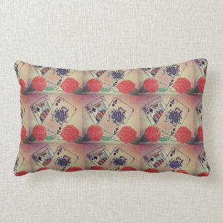 I baralho of letters lumbar pillow