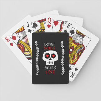 I baralho Skulls Love Playing Cards