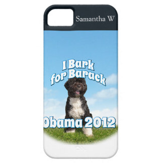I Bark for Barack, Bo the First Dog Obama iPhone 5 Cover